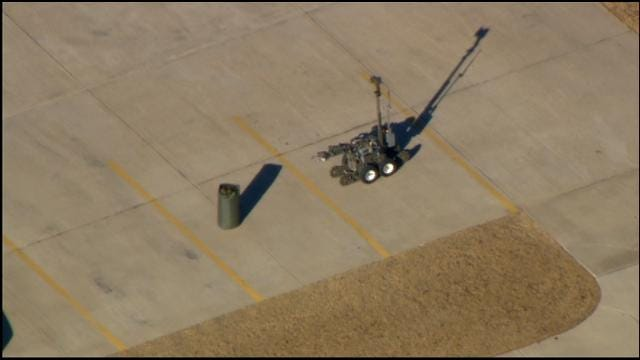 WEB EXTRA: Bob Mills SkyNews 9 HD Flies Over Suspicious Package In Bethany