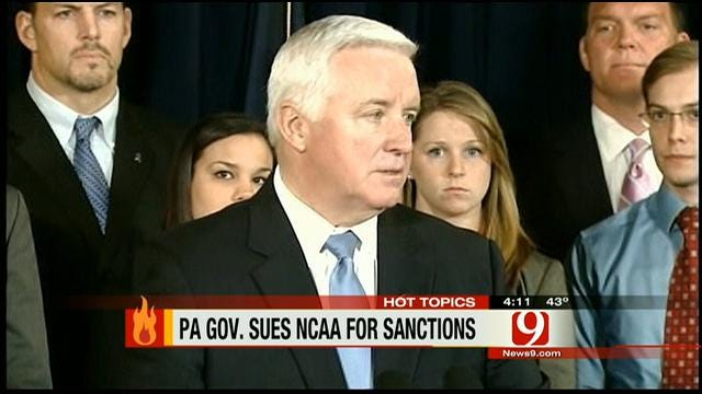 Hot Topics: PA Governor Sues NCAA For Sanctions