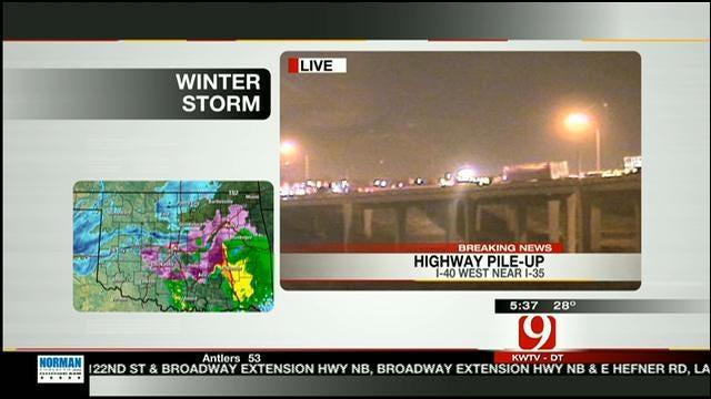 OHP Updates News 9 On 20-Car Crash On I-40