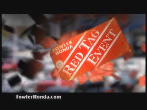 Fowler Honda: Red Tags