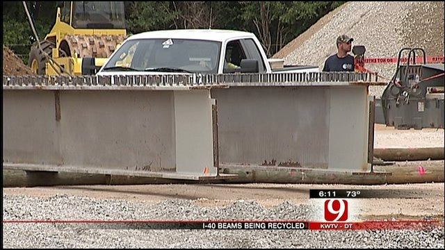 Crews Recycle Beams From Old I-40 Crosstown Bridge