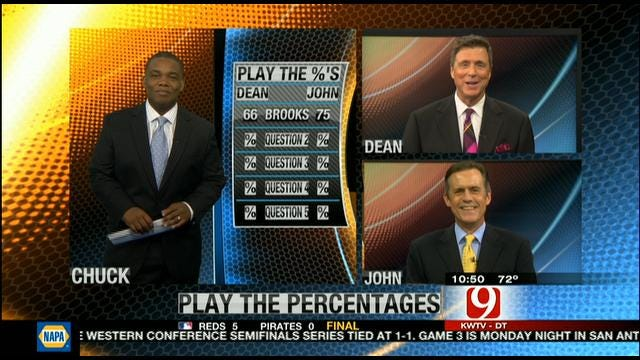 Play The Percentages: May 6, 2012