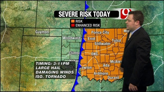 Chance Of Severe Storms Sunday In Oklahoma