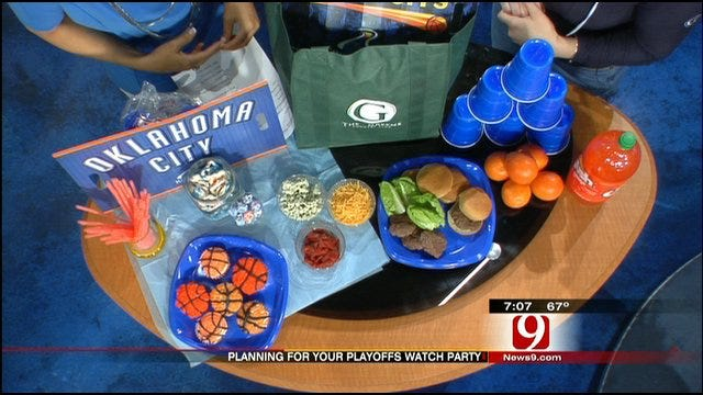 Thunder Playoff Party Ideas