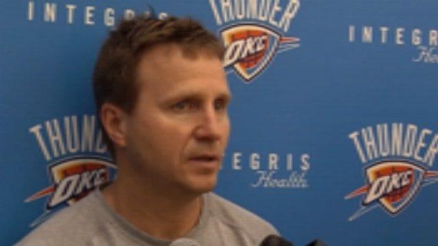 Thunder Practice: Scott Brooks Interview