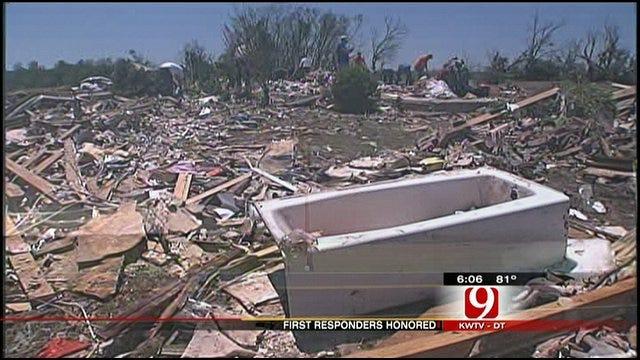 OKC Officers Recognized For Efforts After Deadly Piedmont Tornado