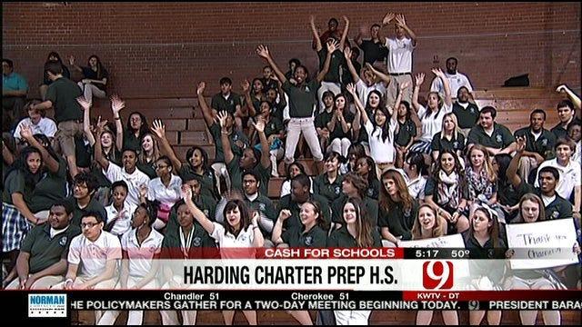 $10,000 Check Presented To Harding Charter Prep School