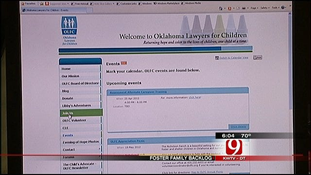 'Oklahoma Lawyers For Children' Helps Future Foster Parents With Paperwork