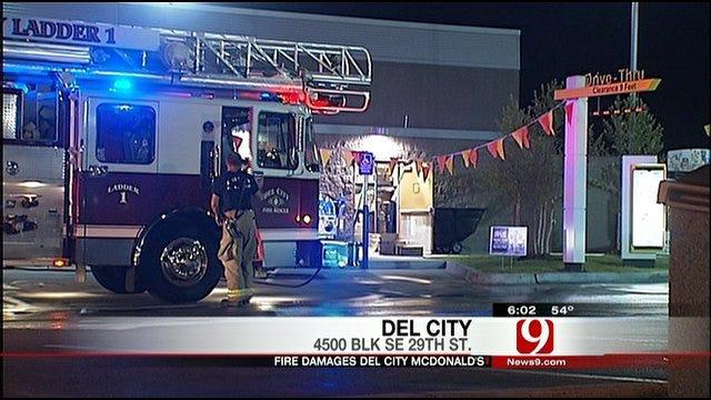 Overnight Fire Shuts Down Del City McDonald's