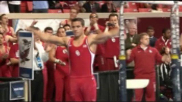 OU Gymnastics Finishes Second Thursday Evening