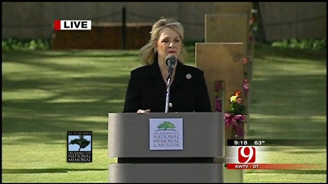 Remembrance Ceremony: Gov. Mary Fallin