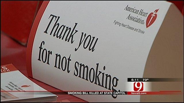 Oklahoma Lawmaker Kills Smoking Ban Bill