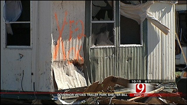 Fallin Vetoes Bill Aimed At Protecting Mobile Home Residents During Tornadoes