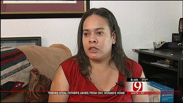 OKC Woman Wants Robber To Return Her Father's Ashes