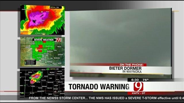 Restaurant Owner In Waynoka Speaks To News 9 As Tornado Sirens Wail