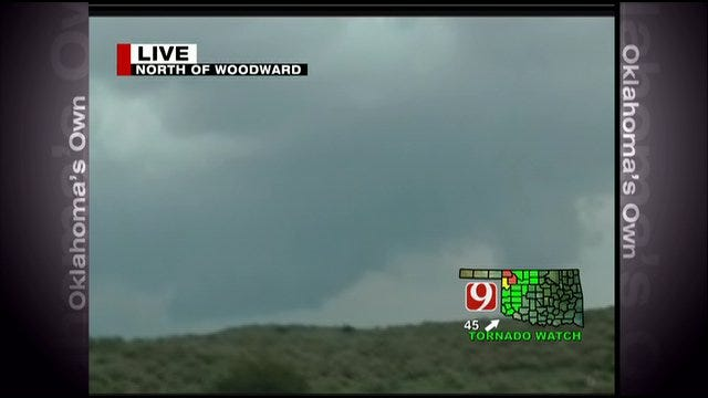 News 9 StormTrackers Spot Tornado Near Woodward