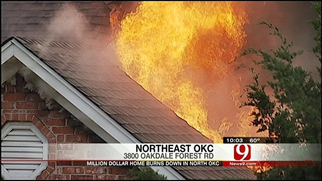 Million-Dollar Home In North OKC Destroyed By Fire