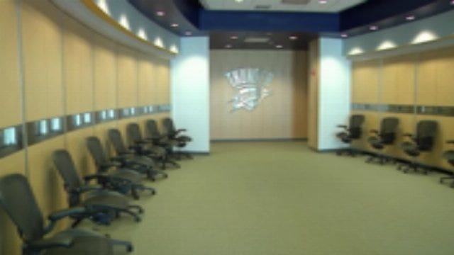 Inside The Thunder Practice Facility
