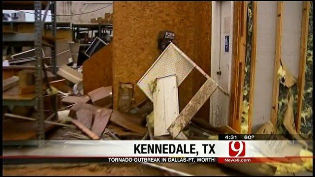 WEB EXTRA: Tornado Damage In Kennedale, Texas