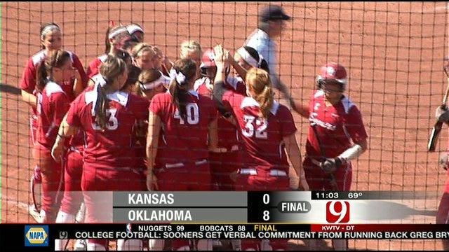 Oklahoma Softball Blasts Kansas