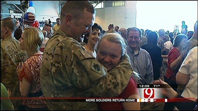 More Oklahoma National Guardsmen Return Home Friday