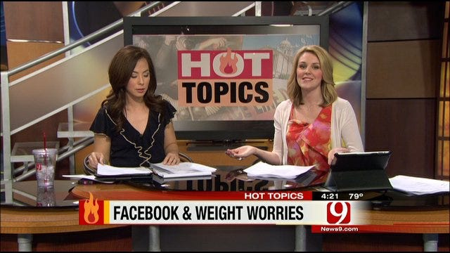 Hot Topics: Facebook And Weight Worries