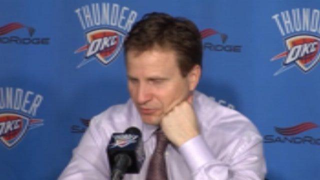 Thunder Postgame: Coach Scott Brooks Part 2
