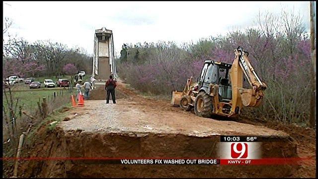 Contractors To Fix Rain-Damaged Bridge In SW OKC For Free