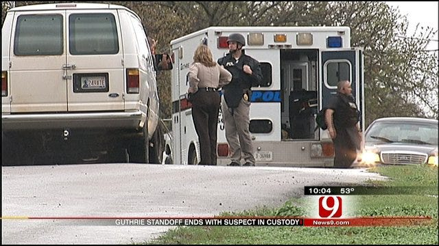 Police Standoff In Guthrie Ends With Arrest