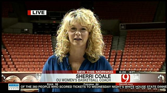 OU's Sherri Coale Live On News 9 This Morning