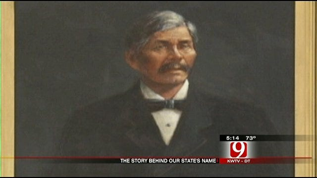 Painting Of Man Who Gave Oklahoma Its Name Displayed At State Capitol