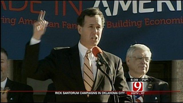 Santorum Stumps In OkC Days Before Primary Election