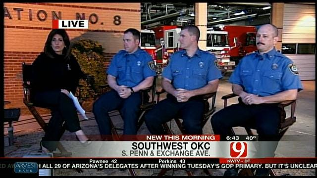 OKC Firefighters Survive Roof Collapse During Fire
