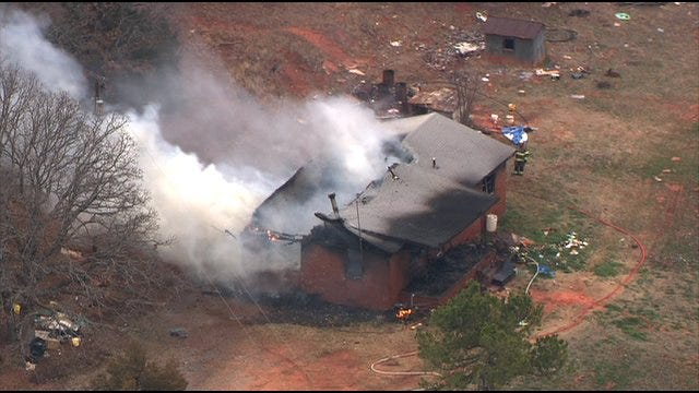 WEB EXTRA: Fire Burns Two Buildings In Warwick