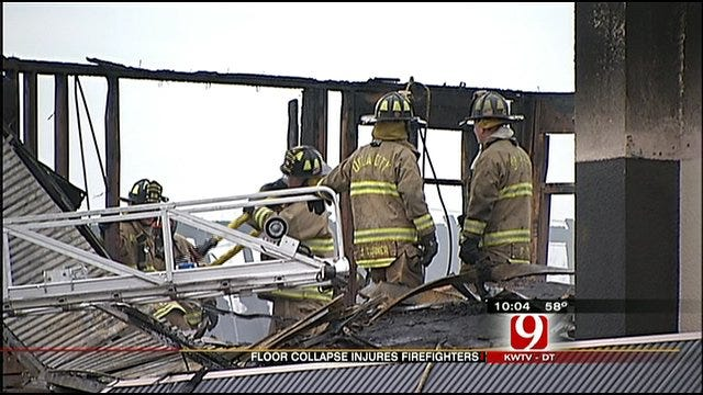Three Firefighters Injured While Battling Three-Alarm Fire At OKC Strip Mall