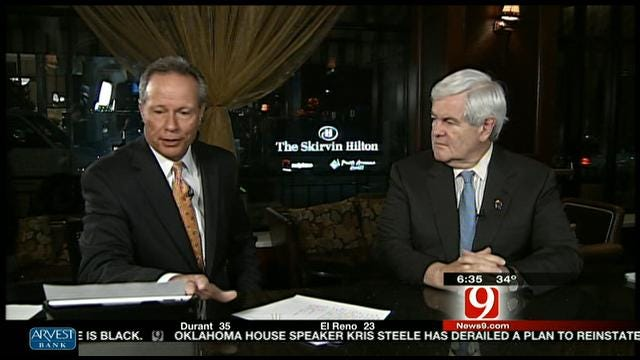 Stan Miller Speaks With GOP Presidential Candidate Newt Gingrich