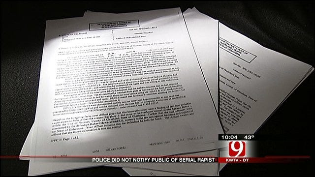 Court Documents: Police Didn't Notify Public Of Serial Rapist In Norman