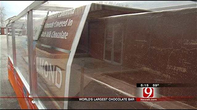 World's Largest Chocolate Bar Visits OKC