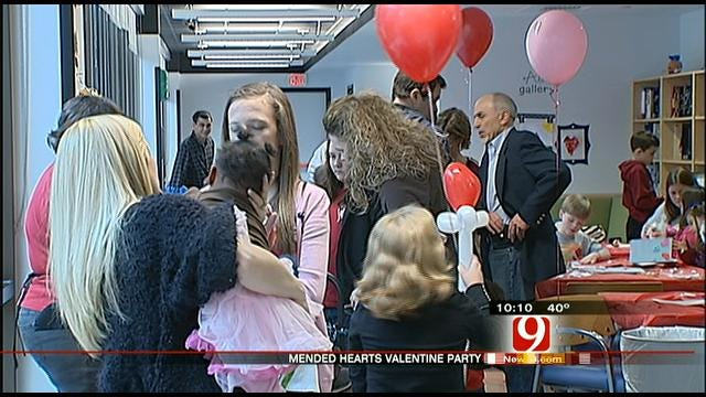 Special Valentine's Day Party Held At OKC Children's Hospital