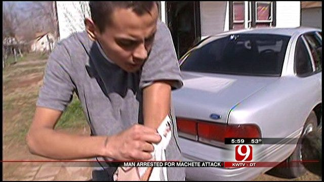 Man Arrested For Attacking Friend With A Machete