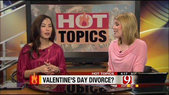 Hot Topics: Spike In Divorces On Valentine's Day