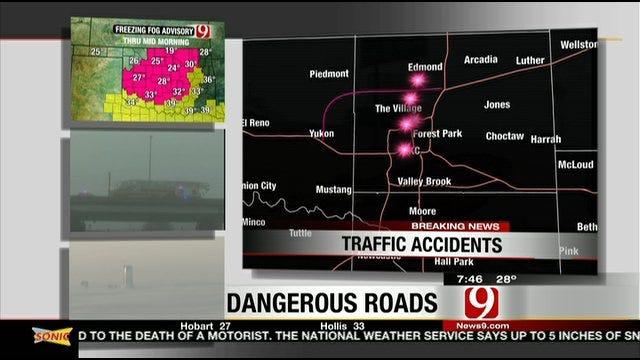Oklahoma Highway Patrol On Slick Roads