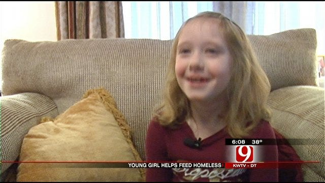 OKC Girl Brings Special Birthday 'Gifts' To The Homeless