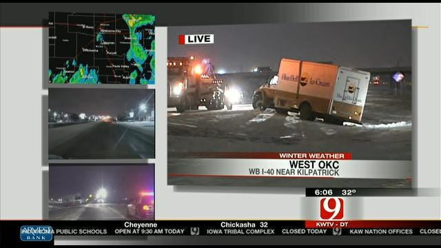 Blue Bell Truck Overturns In West OKC