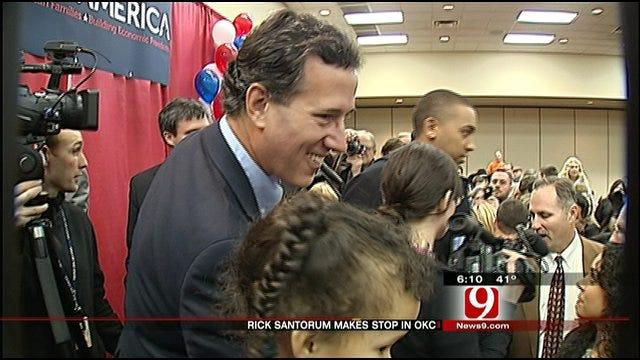 Santorum Campaign Makes Swing Through Oklahoma