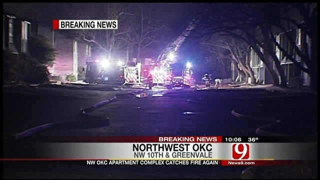 Authorities Investigate Arson Fires At OKC Abandoned Apartment Complex