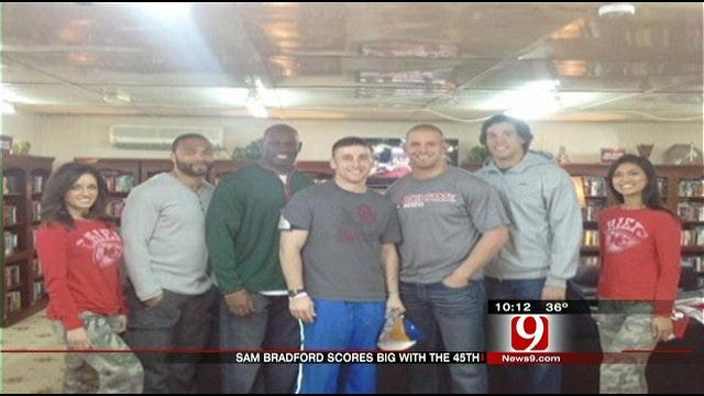 Sam Bradford Visits 45th Infantry Soldiers In Kuwait On Super Bowl Sunday