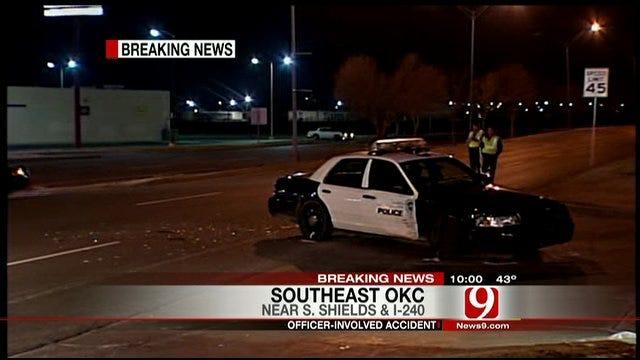 Police Investigate Officer-Involved Crash In Oklahoma City