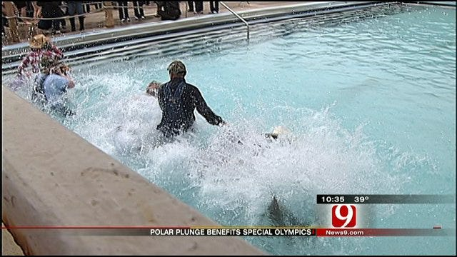 Oklahomans Take 'Polar Plunge' To Help Benefit Special Olympics
