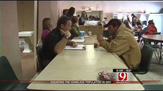 Homeless Count Taken In Oklahoma City
